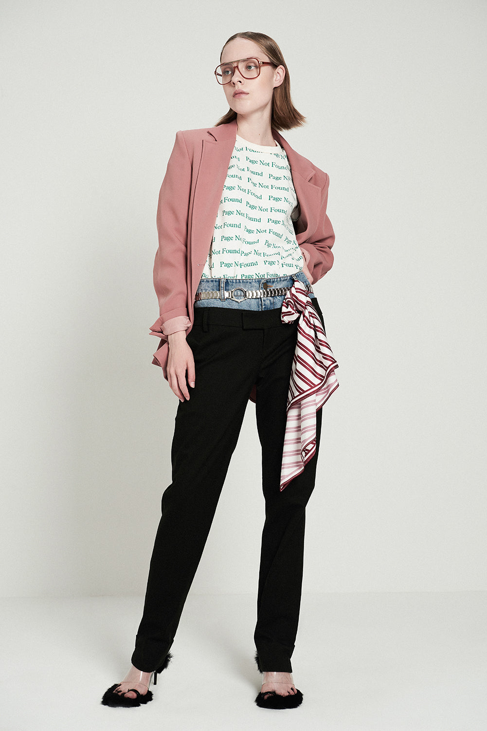 Red Stripe Scarf - front row shop