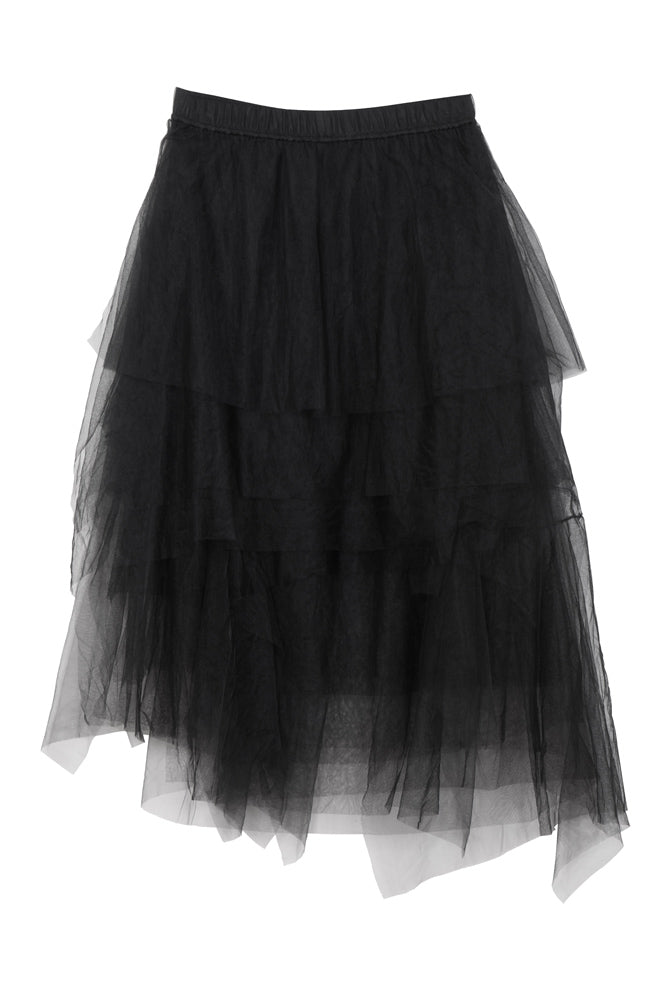 Layered Tulle Midi Skirt - front row shop