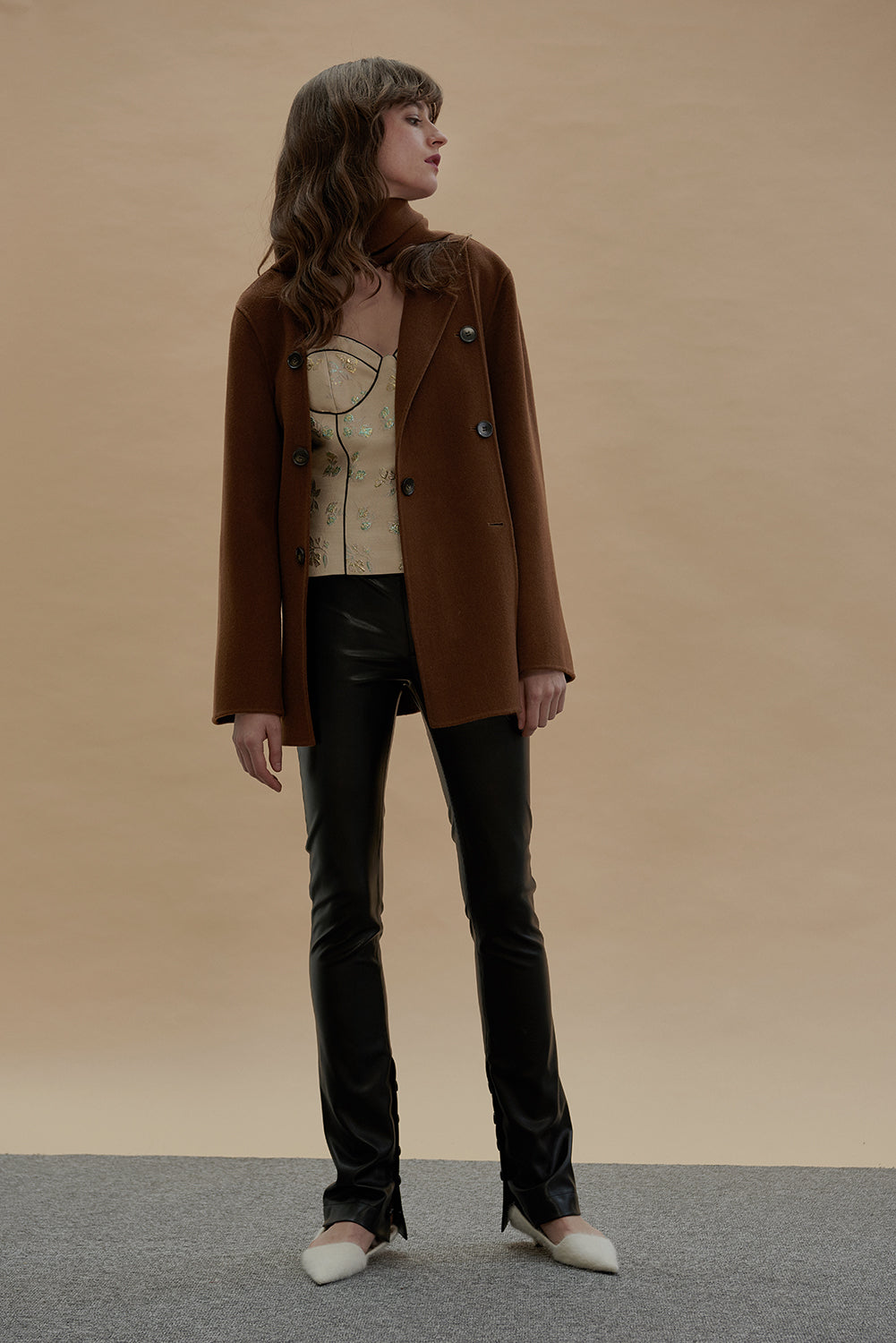 Dreaming Wool Blazer-Tobacco Brown