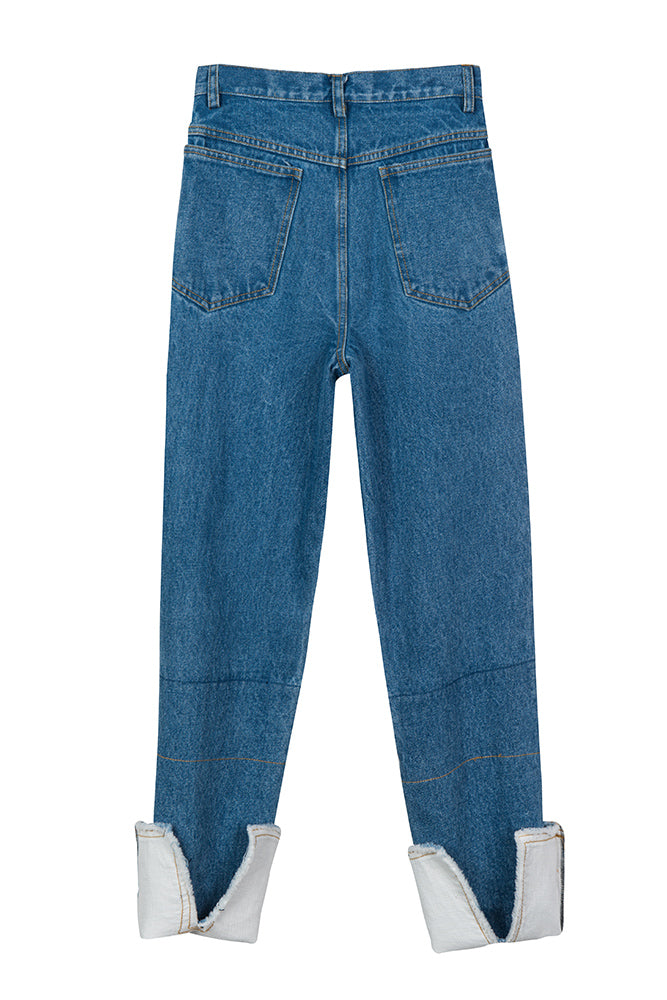 Rolled Hem With Split Jean - front row shop
