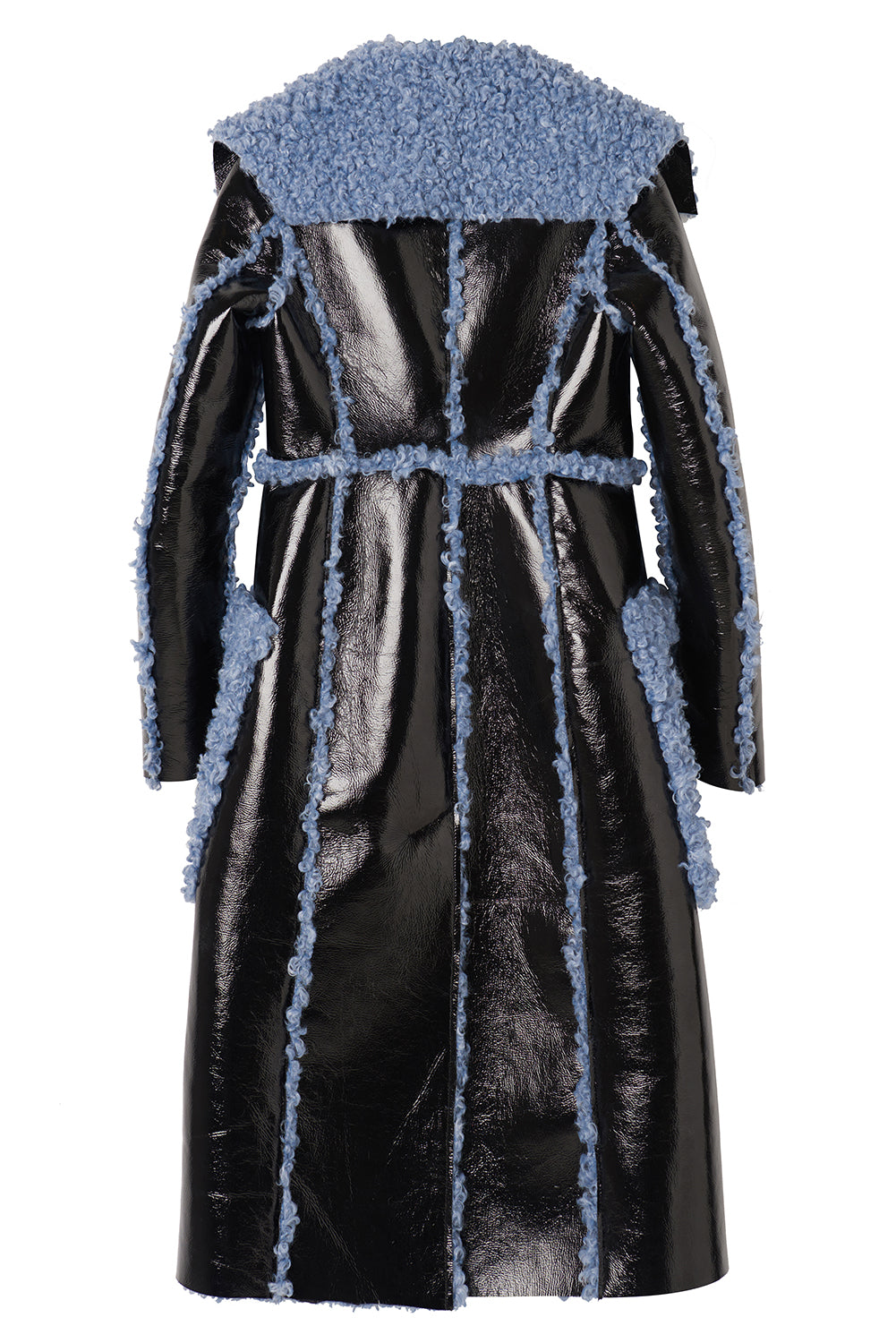 Charlotte Coat-Black/Blue