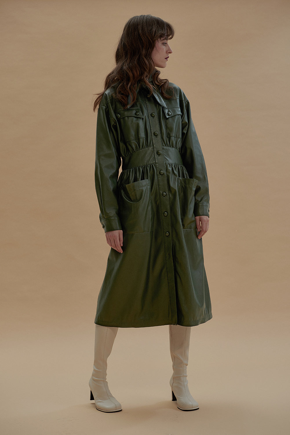 Kookoo Dress-Dark Green