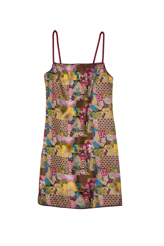 Tribe Printed Satin Slip Dress