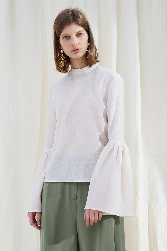 Blouse With Ruffled Sleeves - front row shop