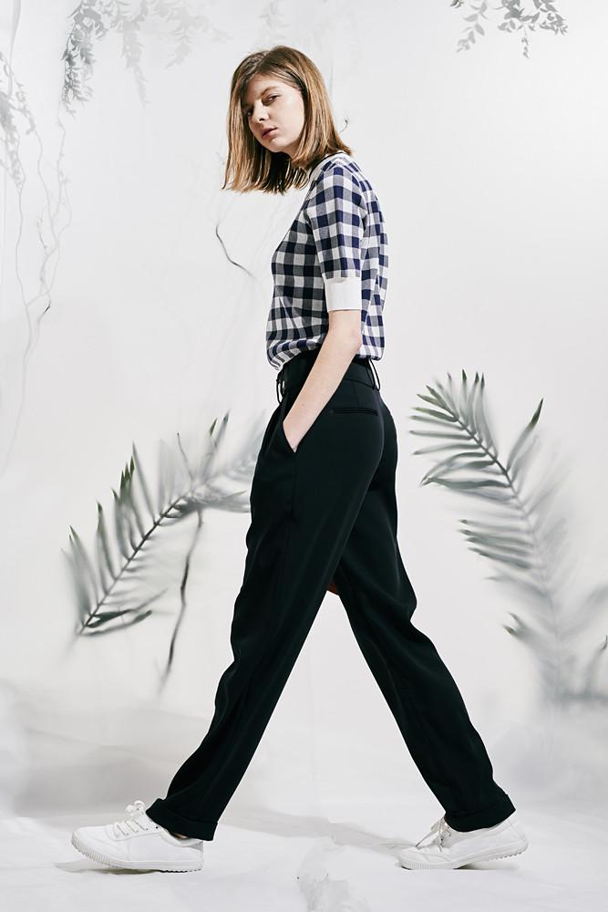 Buttoned Flowing Trousers-FRONT ROW SHOP