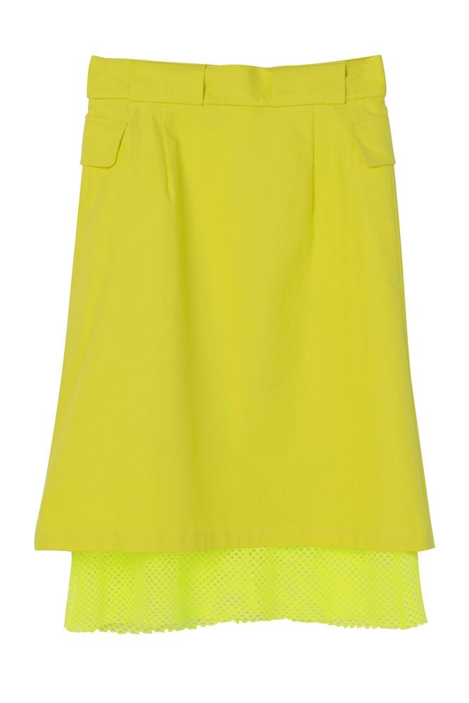 Buttoned Skirt-FRONT ROW SHOP