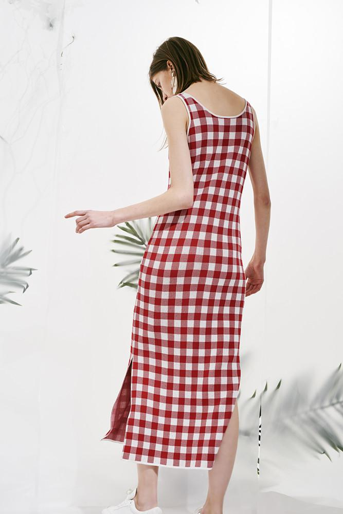 Checked Dress - front row shop