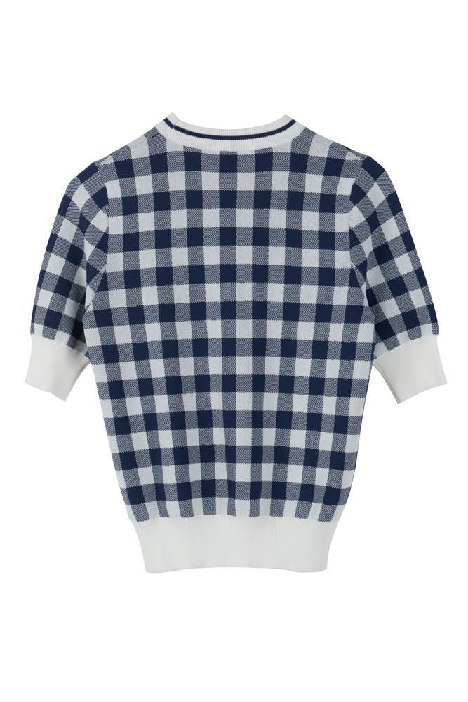 Checked Sweater-FRONT ROW SHOP