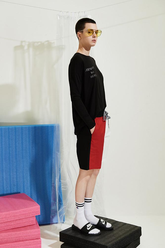 Contrast Sporty Shorts - front row shop