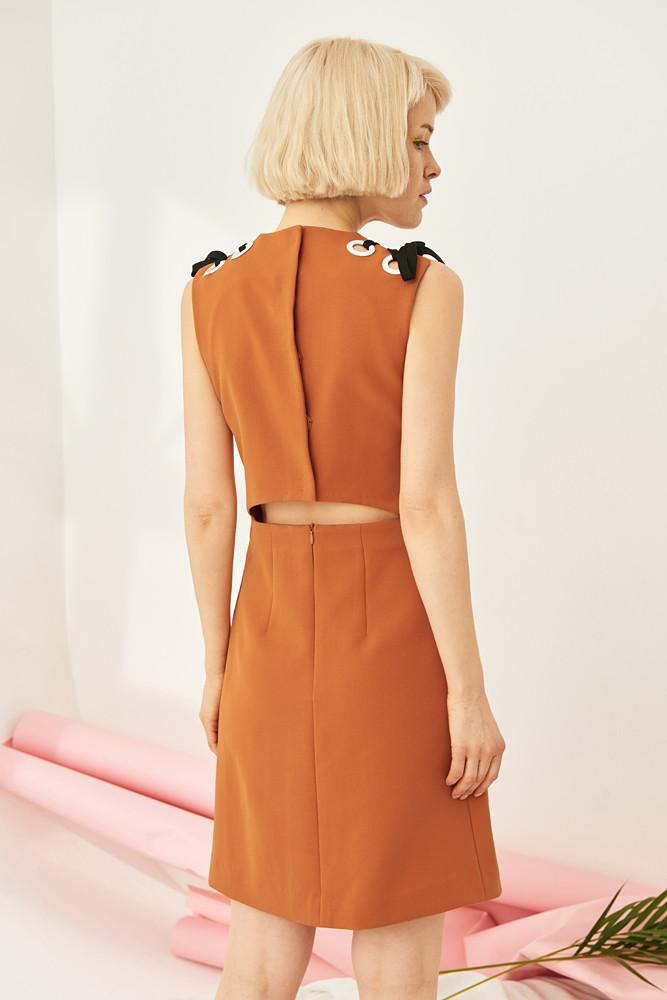 Dress With Cut-out Back-FRONT ROW SHOP