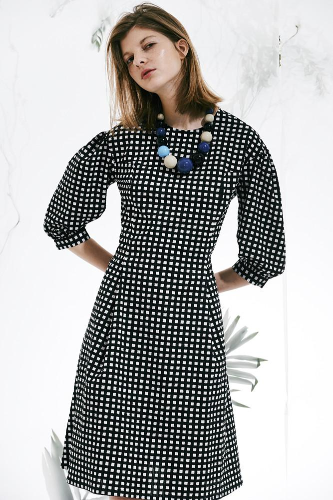 Dress with Puff Sleeves - front row shop