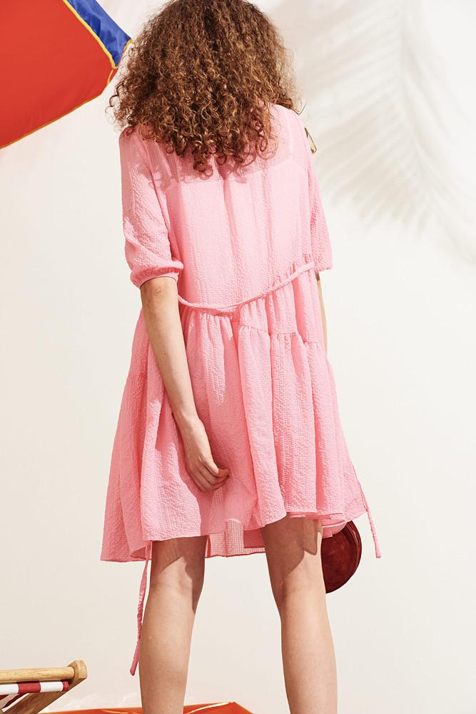 Dress With Ruffled Hem - front row shop