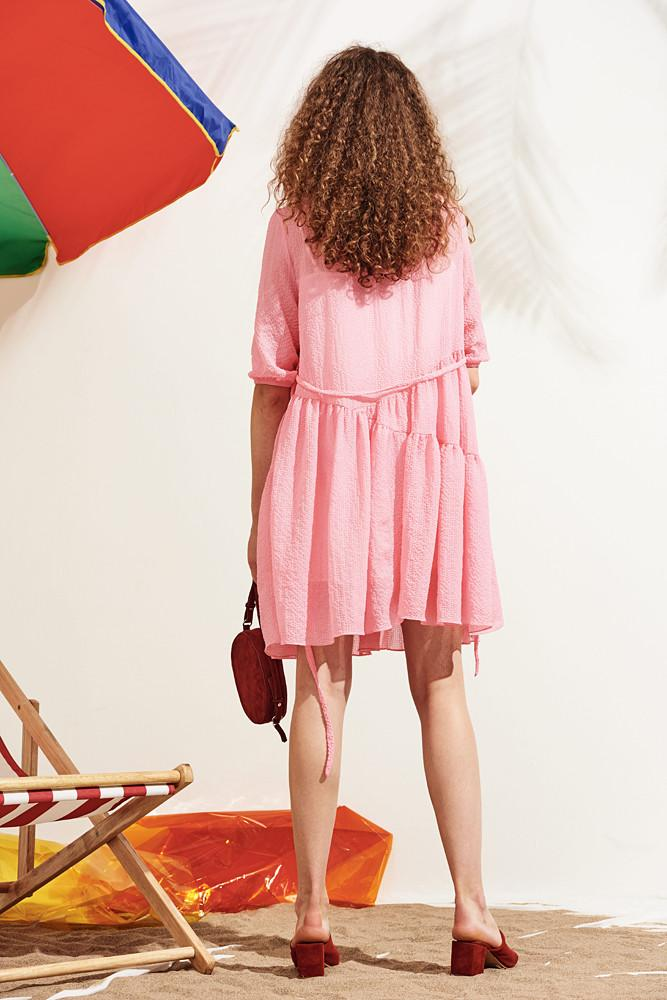 Dress With Ruffled Hem-FRONT ROW SHOP