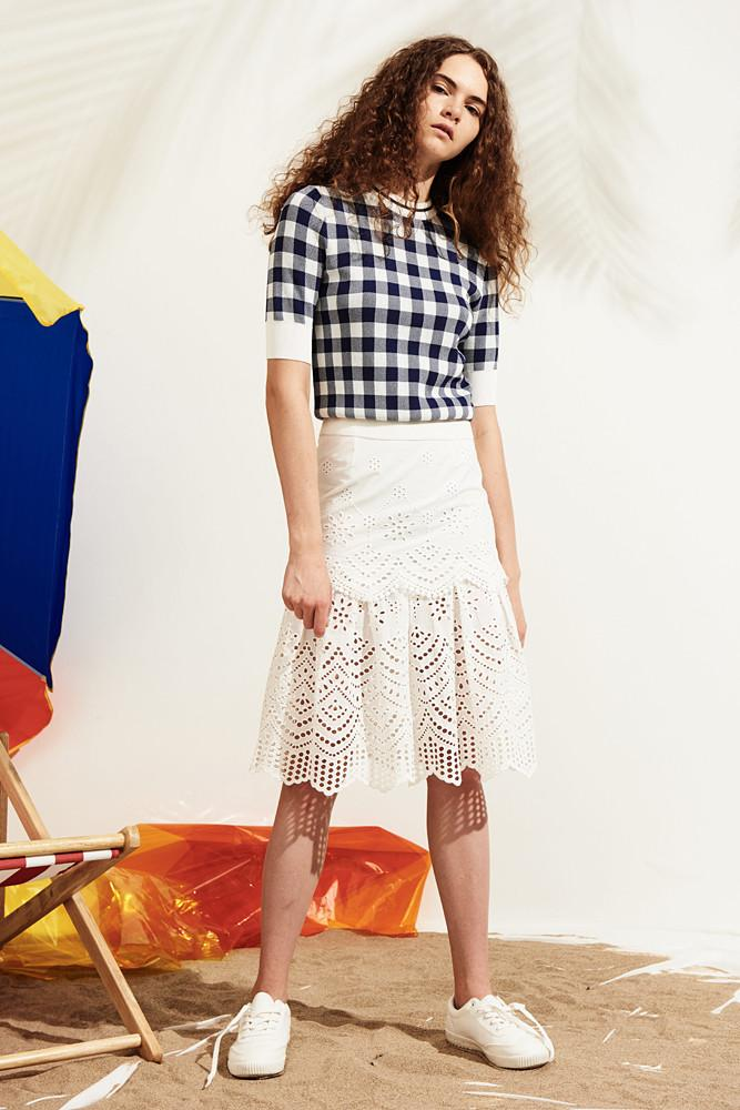 Frilled Lace Skirt-FRONT ROW SHOP