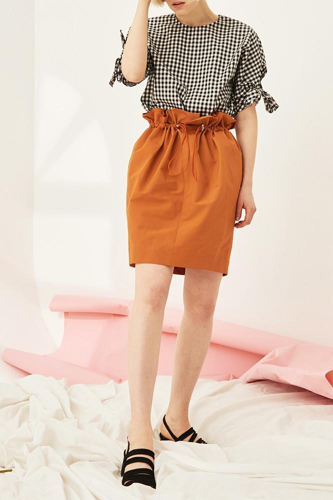 Gathered Mini Skirt - front row shop