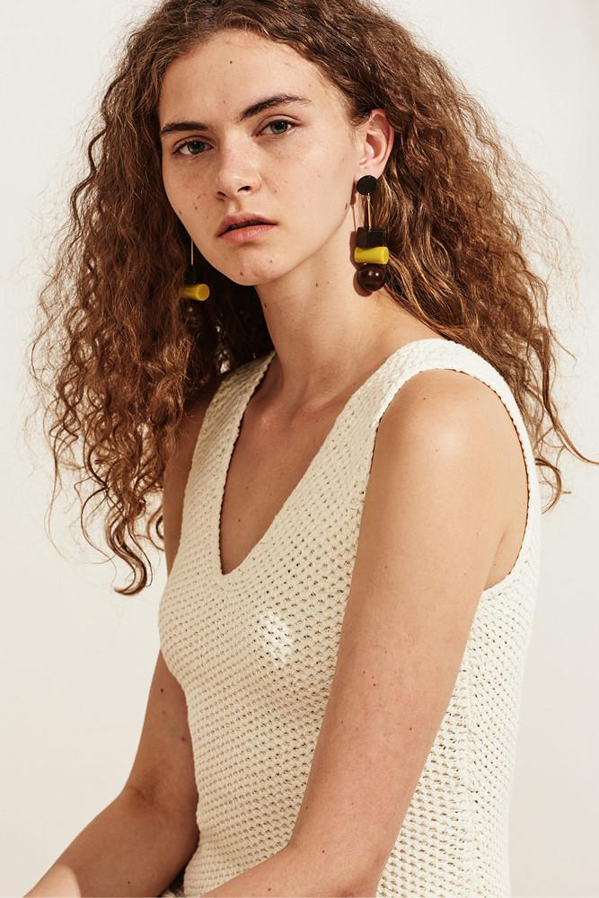Geometric Drop Earring - front row shop