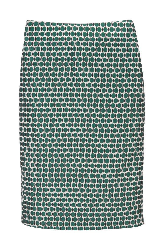Green Dot Pencil Skirt-FRONT ROW SHOP