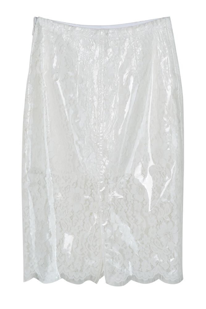 Lace Detail Skirt-FRONT ROW SHOP