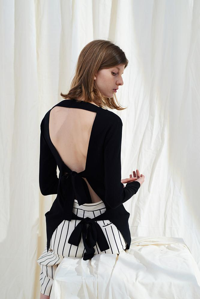 Open Back Sweater-FRONT ROW SHOP