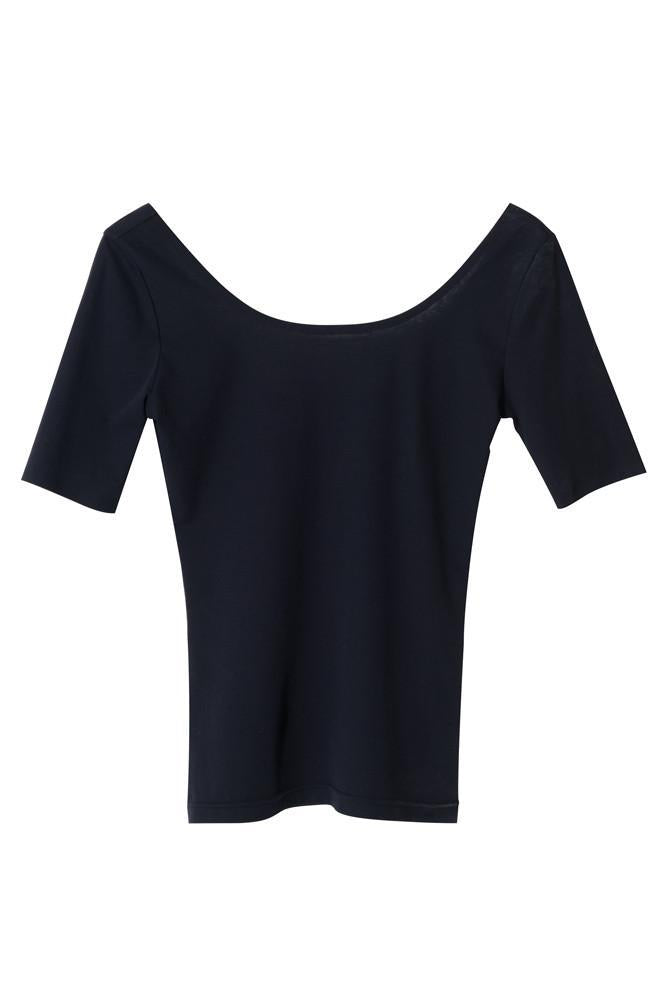 Open Back T-shirt-FRONT ROW SHOP