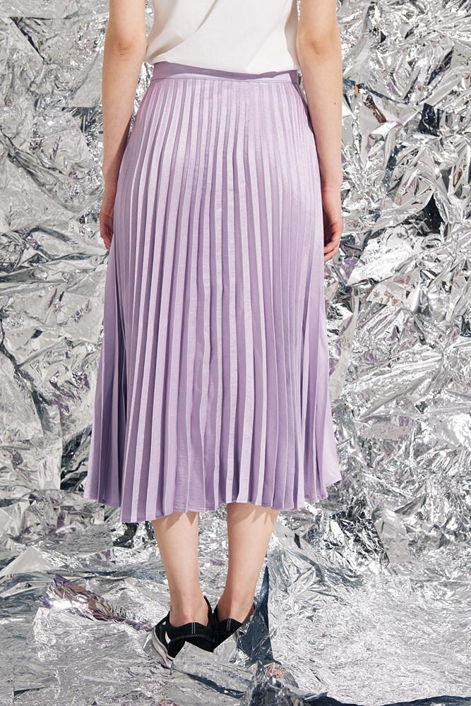 Pleated Midi Skirt-FRONT ROW SHOP