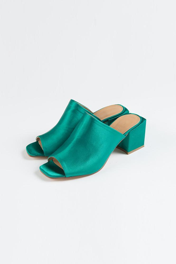 Satin Mules - front row shop