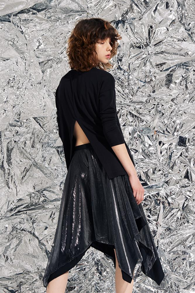 Shimmery Skirt-FRONT ROW SHOP