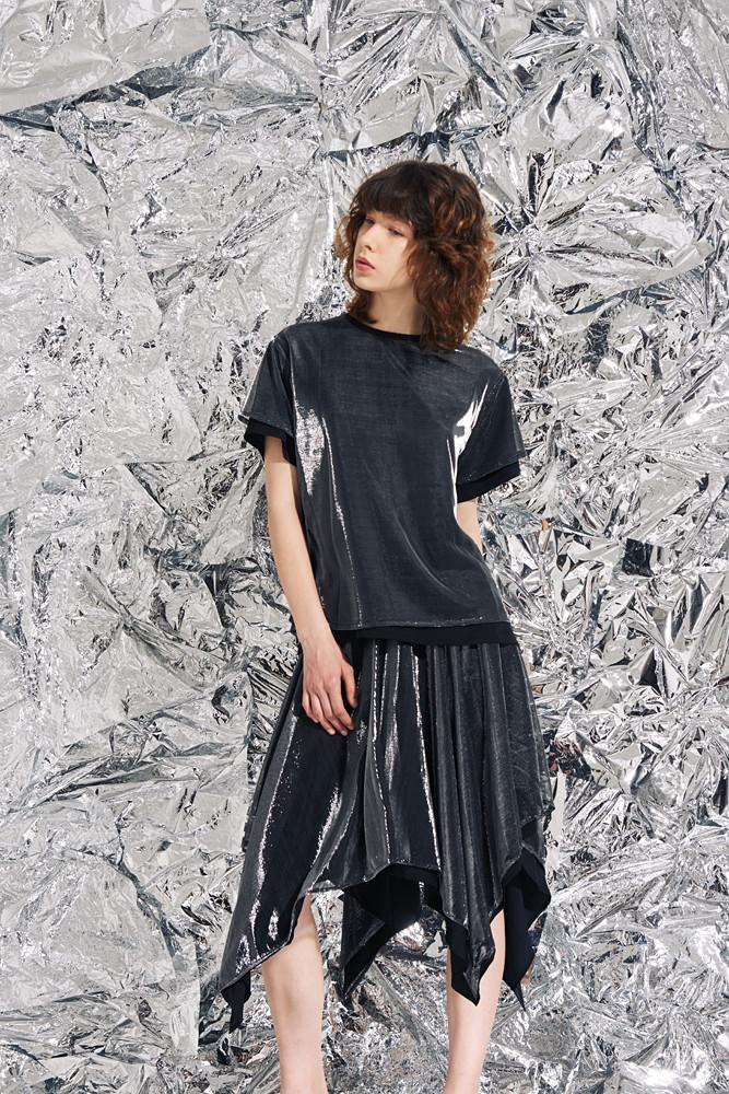 Shimmery T-shirt-FRONT ROW SHOP