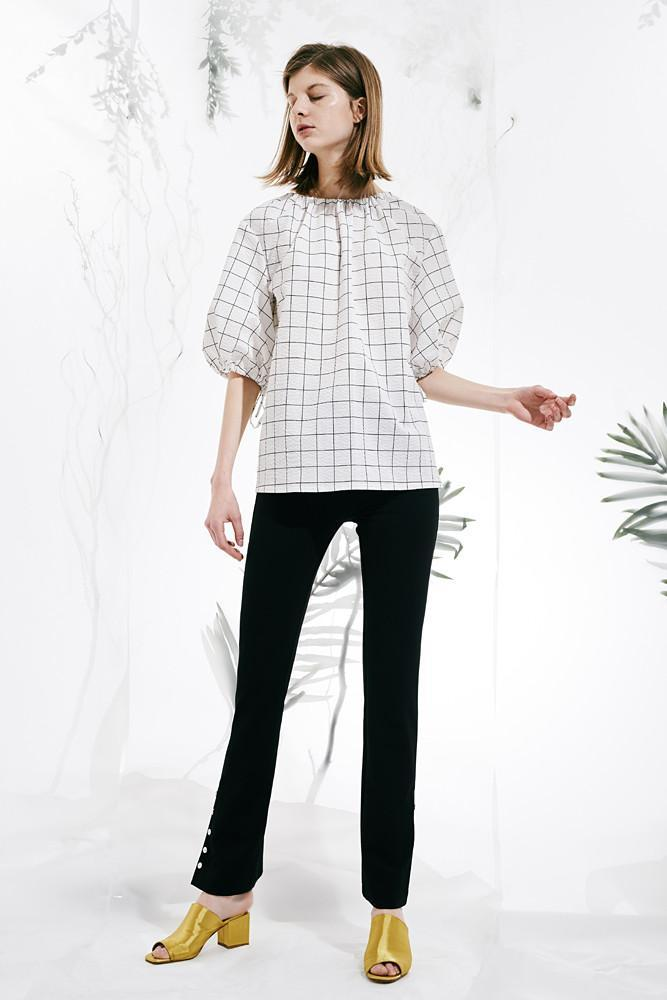 Shirt with Back Bows-FRONT ROW SHOP