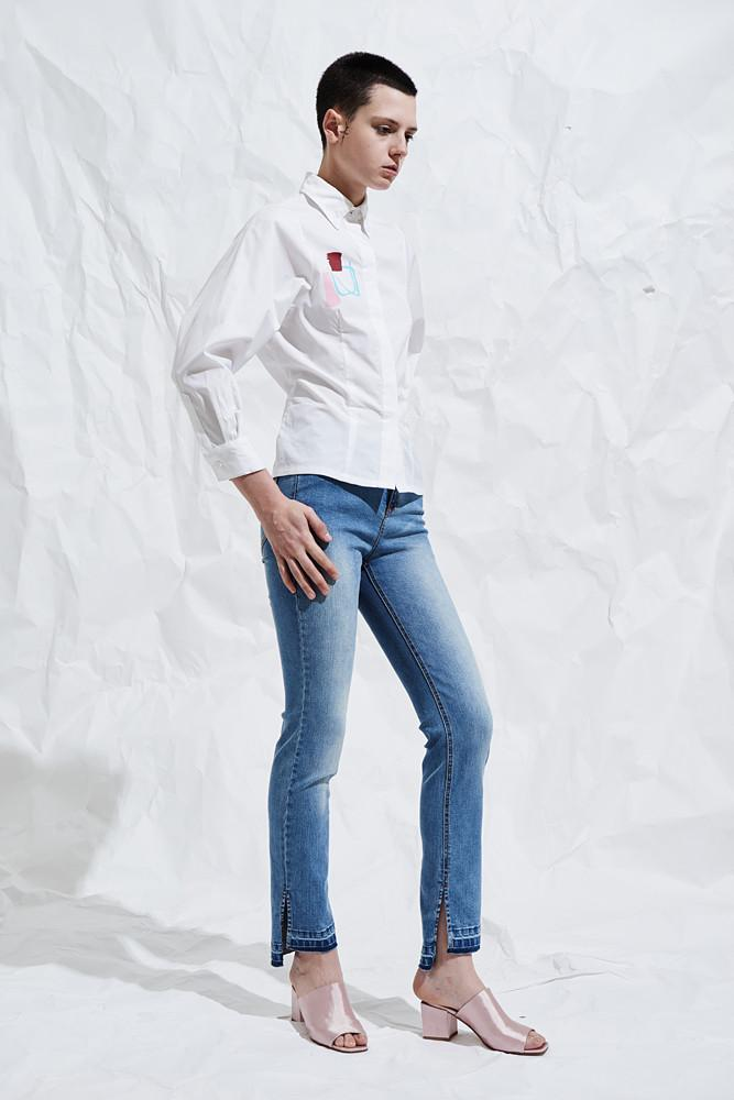 Shirt With Puff Sleeves-FRONT ROW SHOP