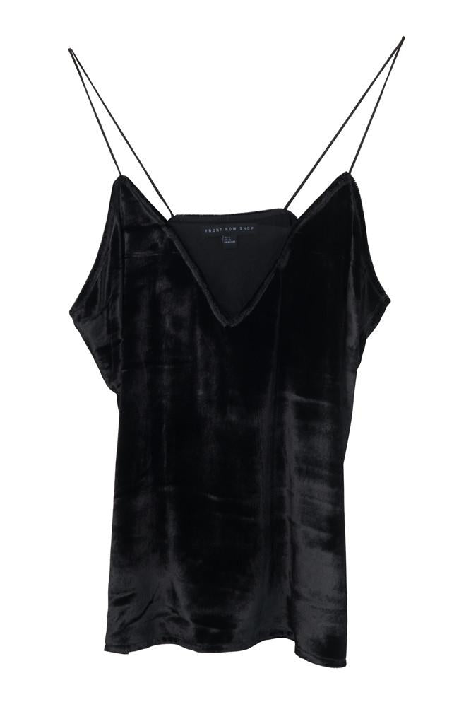 Strappy Velvet Top-FRONT ROW SHOP