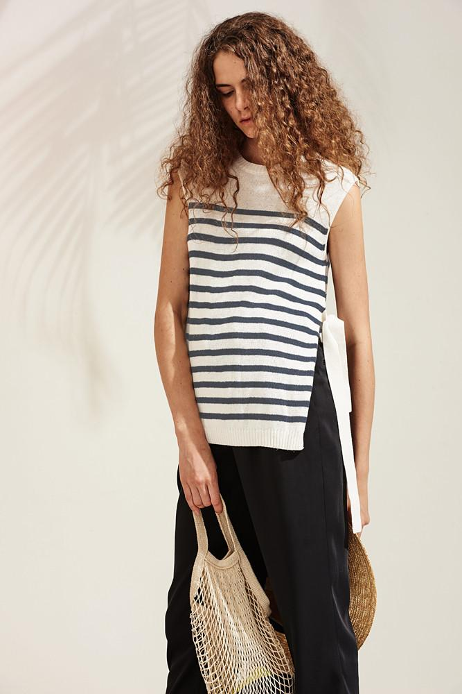 Striped Knit Vest-FRONT ROW SHOP