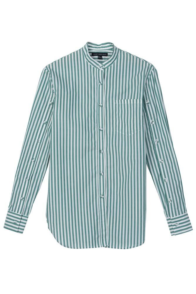 Striped Shirt-FRONT ROW SHOP