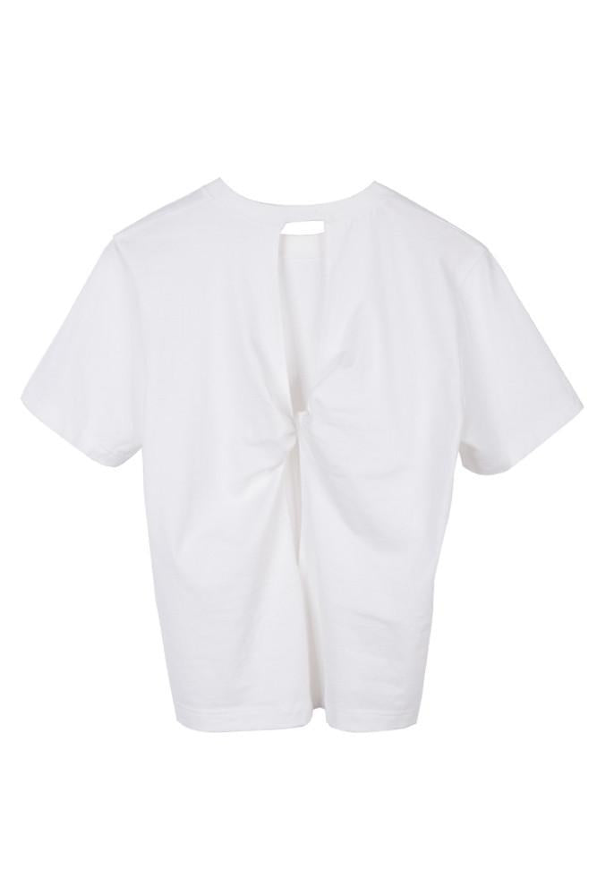 T-shirt with Back Knot-FRONT ROW SHOP