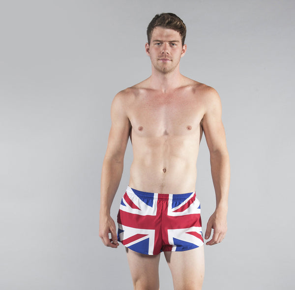 "Men's Country Flags - 1"" Elite Split Shorts"