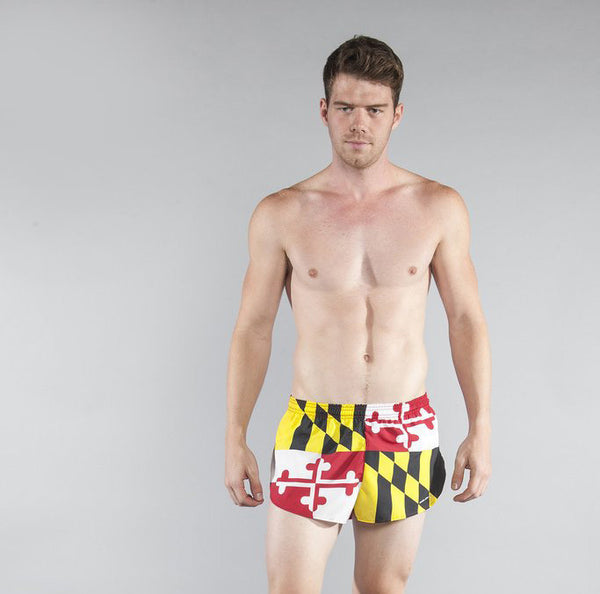 "Men's State Flags - 1"" Elite Split Shorts"