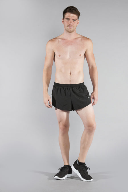 MEN'S 1 INCH INSEAM ELITE SPLIT RUNNING SHORTS- POW-MIA