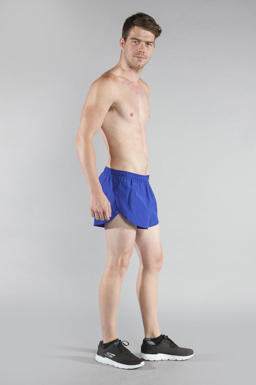 "MENS 1"" ELITE SPLIT RUNNING SHORT- ROYAL - BOAUSA"