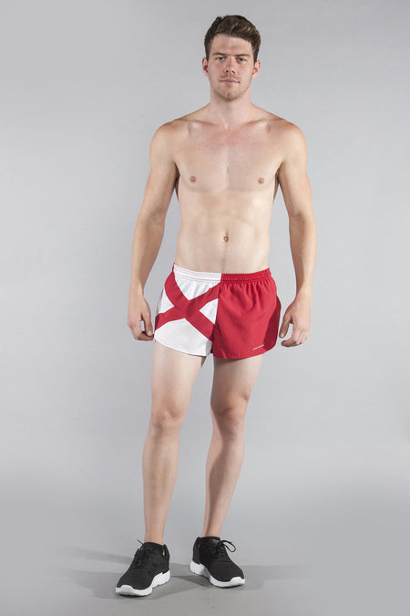 MEN'S 1 INCH INSEAM ELITE SPLIT RUNNING SHORTS- SOUTH DAKOTA