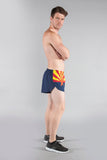 MEN'S 1 INCH INSEAM ELITE SPLIT RUNNING SHORTS- ARIZONA