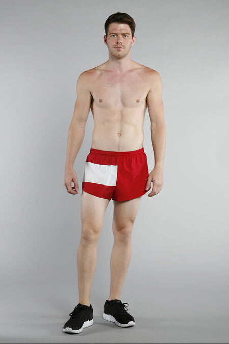 MEN'S 1 INCH INSEAM ELITE SPLIT RUNNING SHORTS- SOUTH AFRICA