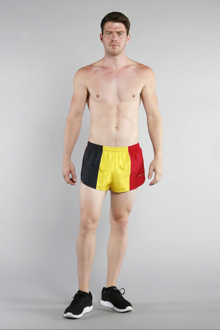 MEN'S 1 INCH INSEAM ELITE SPLIT RUNNING SHORTS- ECUADOR