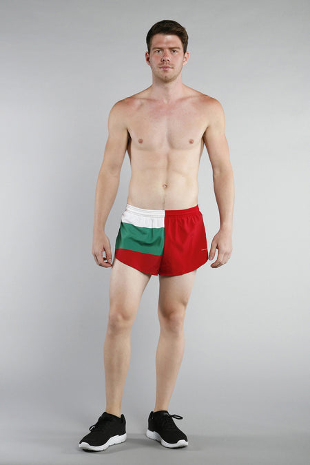 MEN'S 1 INCH INSEAM ELITE SPLIT RUNNING SHORTS- ANTARCTICA