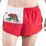 MEN'S 1 INCH INSEAM ELITE SPLIT RUNNING SHORTS- CALIFORNIA