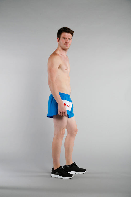 MEN'S 1 INCH INSEAM ELITE SPLIT RUNNING SHORTS- CHICAGO