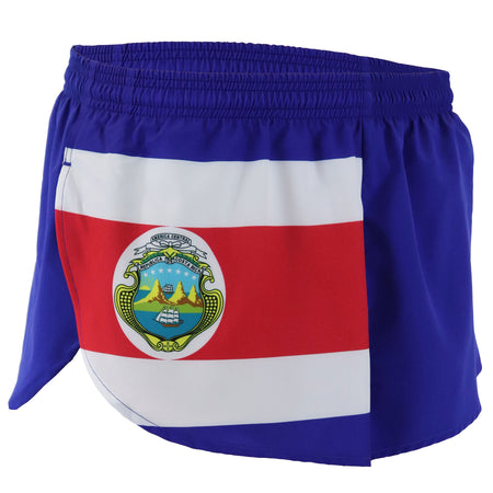 MEN'S 1 INCH INSEAM ELITE SPLIT RUNNING SHORTS- FRANCE