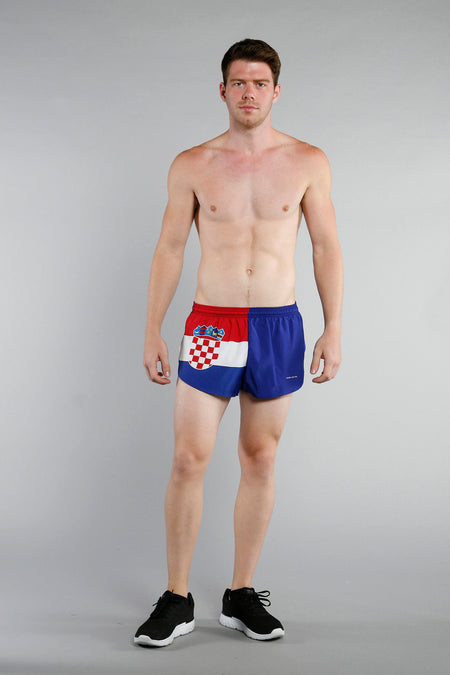 MEN'S 1 INCH INSEAM ELITE SPLIT RUNNING SHORTS- CUBA