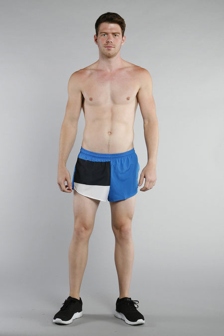 MEN'S 1 INCH INSEAM ELITE SPLIT RUNNING SHORTS- BELGIUM
