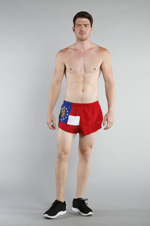 "MEN'S 1"" ELITE SPLIT SHORT- GEORGIA - BOAUSA"