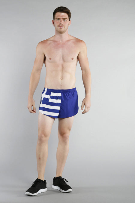 MEN'S 1 INCH INSEAM ELITE SPLIT RUNNING SHORTS- MOROCCO